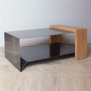 best 20 table basse bois metal ideas on pinterest table With table basse bois metal