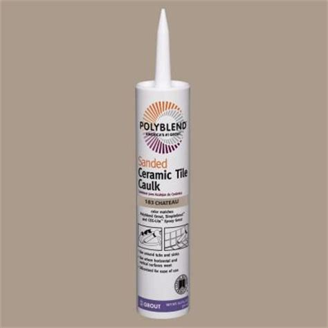polyblend sanded ceramic tile caulk oyster gray custom building products polyblend 183 chateau 10 5 oz