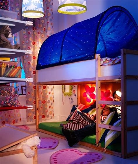 ikea kura childrens canopy for bed blue girls room ideas