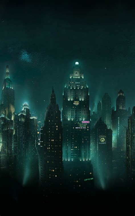 glowing city  night android wallpaper