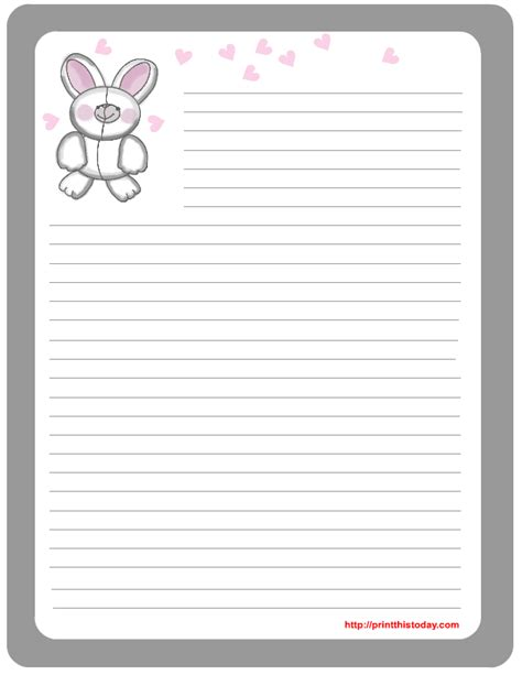 Letter To Easter Bunny Template by Free Printable Easter Stationery