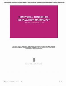 Honeywell Th5220d1003 Installation Manual Pdf By Yulia45abadi