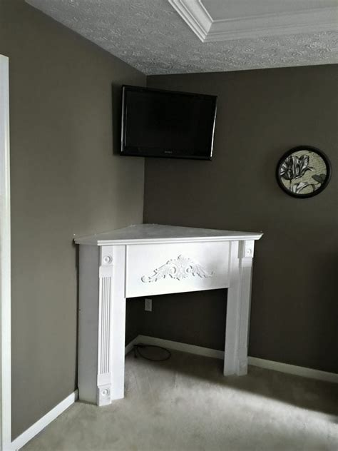 Corner Fireplace Mantels - diy corner mantel fireplace