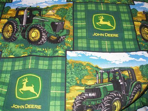 foto de John Deere Farm Scene Tractor Fabric by the Yard