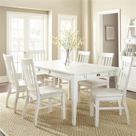 dining set with storage steve silver cayla 7 farmhouse dining set with table 6714