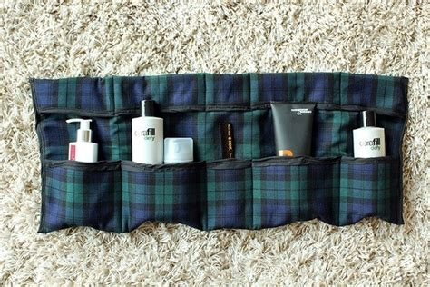 tutorial roll  travel toiletry organizer sewing