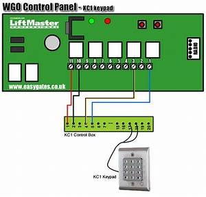 Kc1 Keypad To Wgo Control Panel