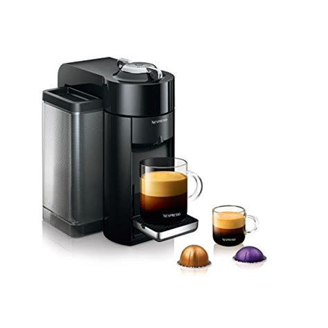 This automatic coffee and espresso machine has been produced to produce barista grade brewed single serve espresso or coffee cups on a single touch. De'Longhi Nespresso Vertuo Evoluo Coffee and Espresso Machine...