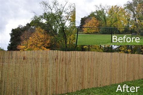 chain link fence upgrade  bamboo chain fence cover