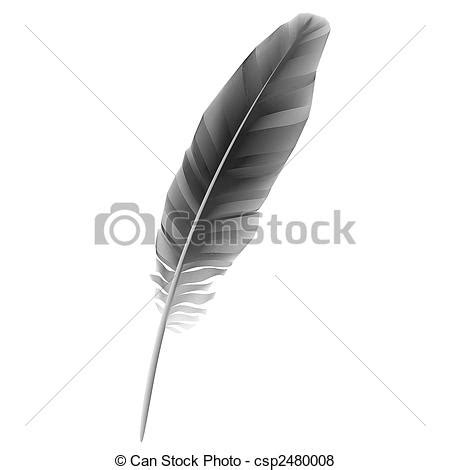 Feather Artwork by Vector Of Black Feather Vector Illustration Of Black