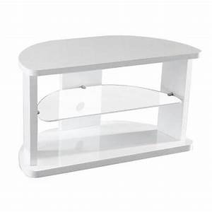 Meuble De Tv D Angle : meuble tv d 39 angle laque blanc mila achat vente meuble tv meuble tv d 39 angle laque blanc mdf ~ Preciouscoupons.com Idées de Décoration