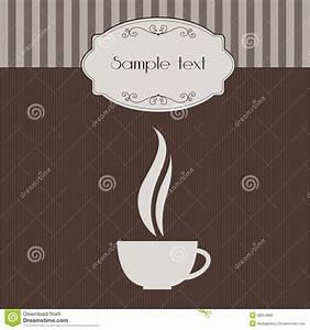 Invitación Del Vintage Con La Taza De Café Imágenes de archivo libres de regalías Imagen: 28914869