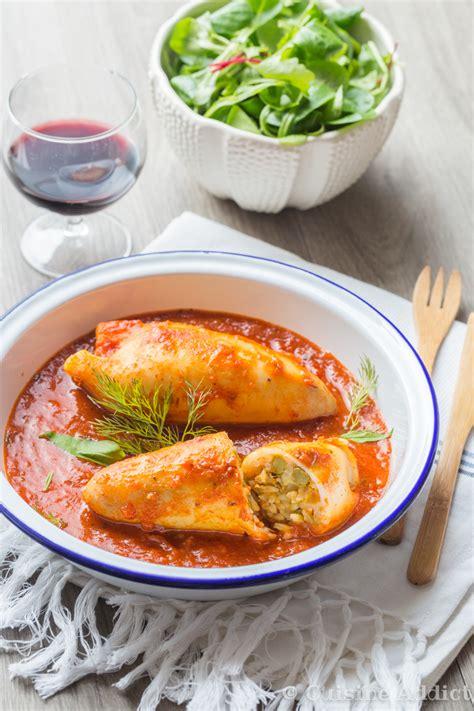encornet cuisine encornets farcis au riz à la méditerranéenne cuisine