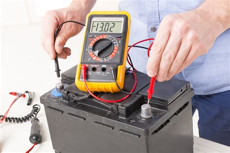check  voltage   car battery yourmechanic
