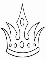 Crown Coloring Pages Crown4 sketch template