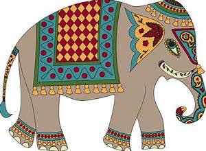 Elephant clipart thailand - Pencil and in color elephant ...