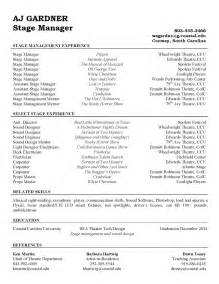 stage management resume exles 1000 images about theatre stage manager on