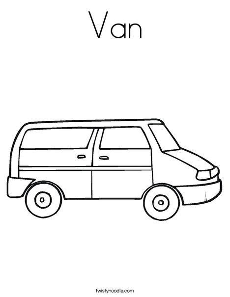 printable van coloring page party truck