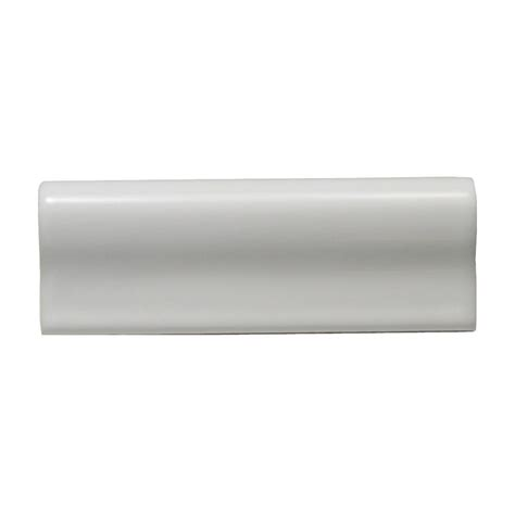 daltile liners white 2 in x 6 in ceramic chair rail trim