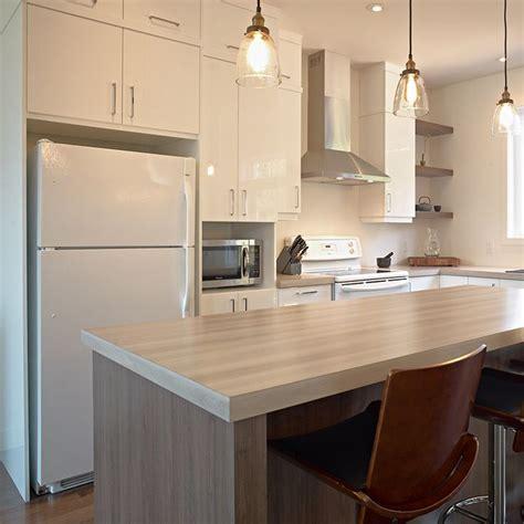 comptoir ilot cuisine cuisine style contemporain avec comptoir de stratifié plus