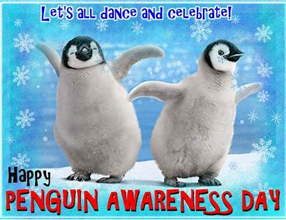 Penguin Awareness Dance Celebrate Ecard
