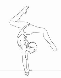 balance beam artistic gymnastic coloring page download With cantilever beam