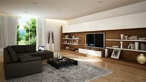 Wohnwand Schwarz Holz : wohnzimmereinrichtung ideen braunt ne sind modern ~ Markanthonyermac.com Haus und Dekorationen