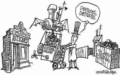 Electoral College Decisions Cartoon Cartoons Composition Keefe