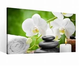 Bilder Feng Shui Steine : leinwandbild 1 tlg xxl wellness orchidee feng shui yoga spa steine kerze leinwand bild ~ Whattoseeinmadrid.com Haus und Dekorationen