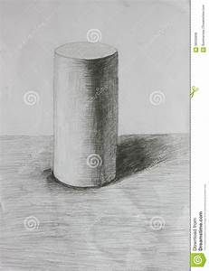 3D Cylinder Pencil Sketch Stock Illustration - Image: 58335958