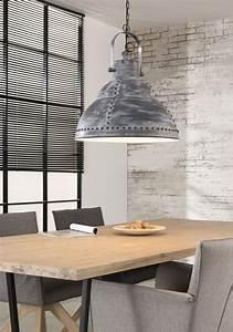 Esstisch Lampe Design : pendelleuchte esstisch deckenleuchte industrial look mit nieten ~ Markanthonyermac.com Haus und Dekorationen