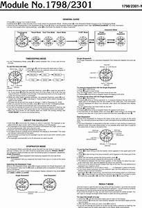 Casio Watch 2301 Users Manual Qw 1798  2301