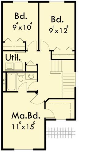 duplex floor plans for narrow lots narrow lot duplex house plan 8185lb architectural