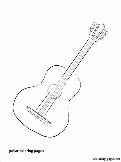 Guitar Coloring Pages Acoustic Electric Printable Getcolorings