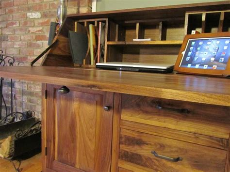 black walnut drop front secretary desk me pinterest