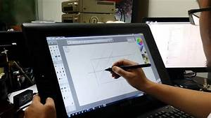 A Professional Graphics Tablet  Screen For Drawing  22hdx At Work