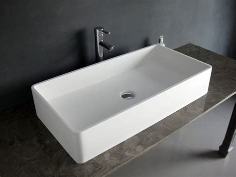 bathroom sink ideas 台上盆 洗脸盆 洗手盆人造石洗手台盆 方形盆b060 简约洗手台