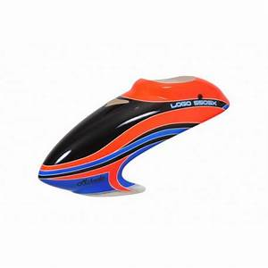 Canopy LOGO 550 SX V2 neon orange blue RB1 RC