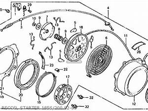 Honda Atc185s 1982  C  Usa Parts List Partsmanual Partsfiche