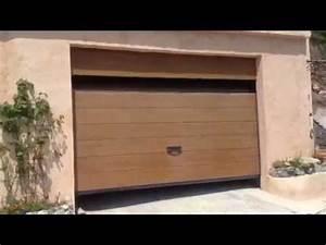 porte de garage sectionnelle plafond g60 motorisee et With hublot pour porte de garage castorama