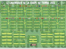 Calendrier des matches de la Coupe du Monde 2018 en Russie