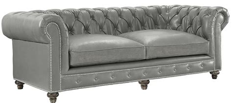 gray leather tufted sofa chesterfield rustic grey leather sofa classic tufted
