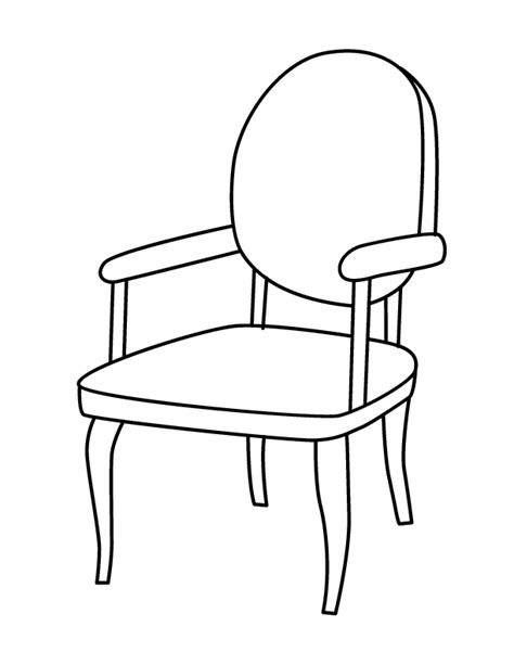 dessin de chaise chair coloring page getcoloringpages com
