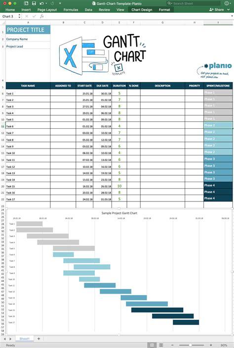create  gantt chart  excel  template