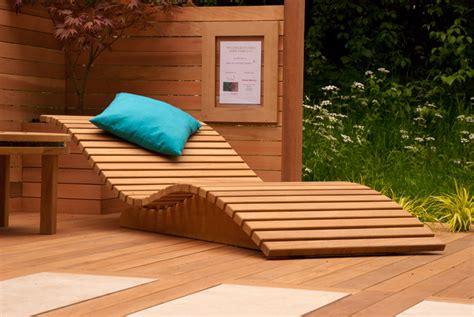 wooden sun lounger cox garden designs