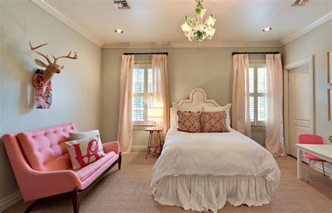 Pink Drapes-contemporary-girl's Room-cote De Texas