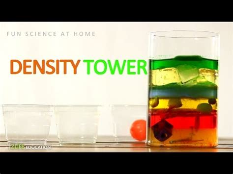color density tower simple  easy science experiments