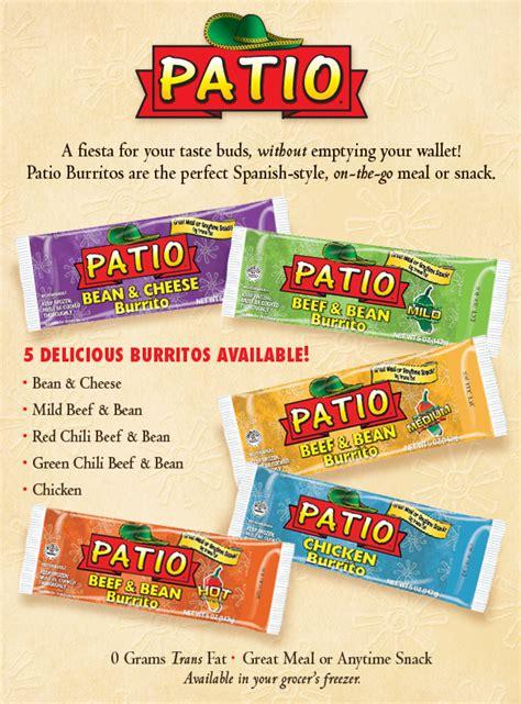 El Patio Eau Burrito Express by Patio Chicken Burrito Modern Patio Outdoor