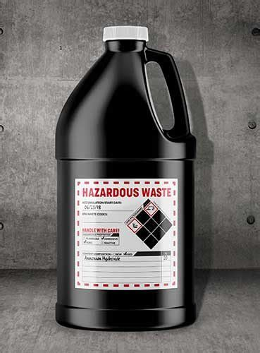 label requirements  hazardous waste