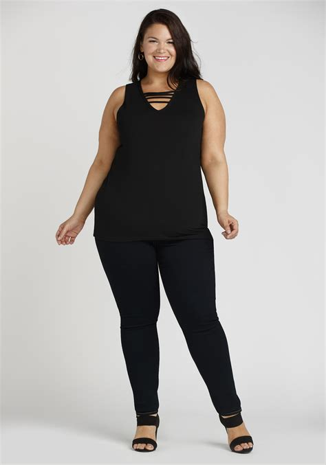 Women's Plus Size Clean Wash Skinny Jeans | Warehouse One